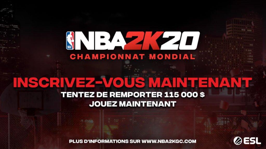 Le NBA 2K20 Global Championship
