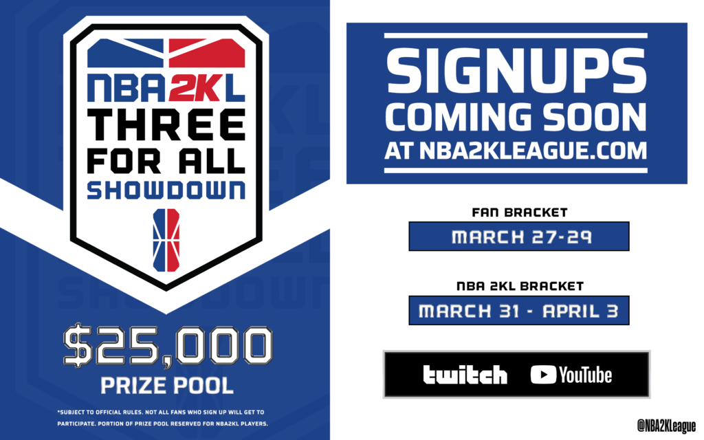 2K League lance le tournoi NBA 2KL Three for All
