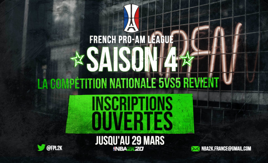 Inscriptions pour la French Pro-AM League Saison 4