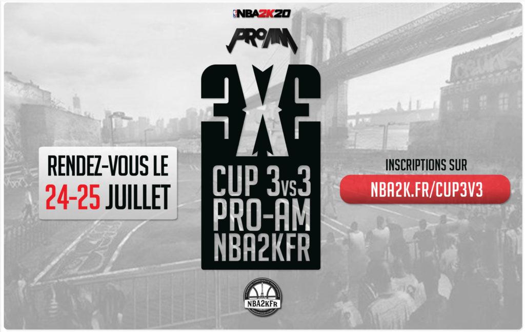 NBA2kFR présente la deuxième édition de la cup Pro-Am 3 versus 3 !