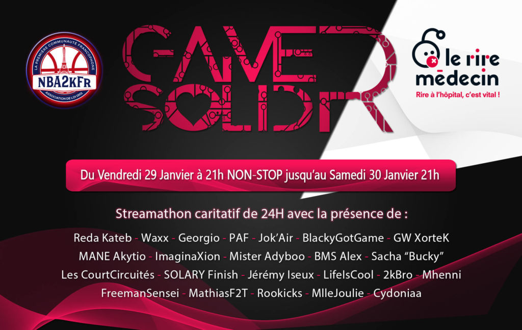 """GamerSolidr : 24h pour """"Le rire médecin"""""""